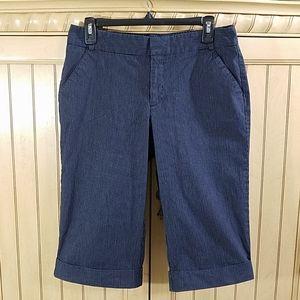 Dockers Dark Blue Pinstripe Bermuda Shorts, sz 8